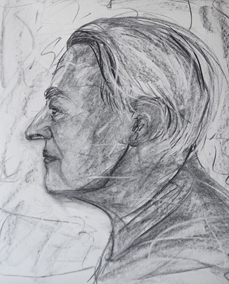 Paul Didry, France. Charcoal 80x60 cm NFS