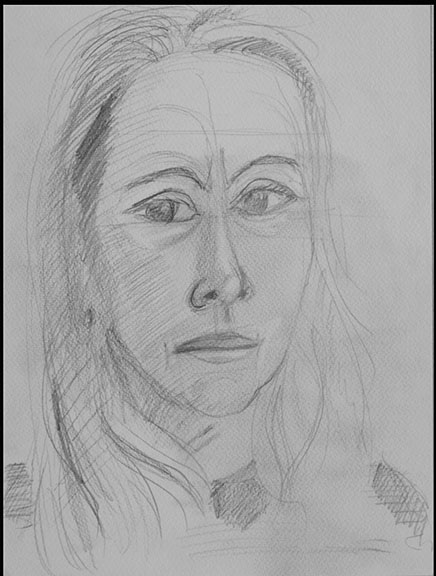 Isabelle 2 pencil on paper