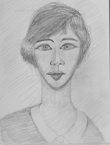 Bethany, pencil on paper